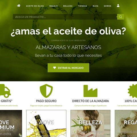 Diseño web de marketplace Oleum Boutique