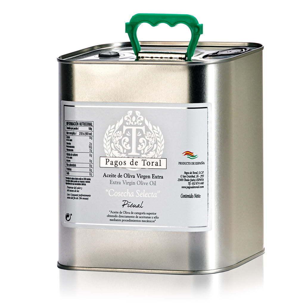 Foto de producto de lata de aceite de oliva